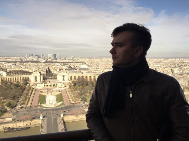 Вид с Эйфелевой башни на Париж и деловой район Дефанс. (Парижский Москва-сити)
